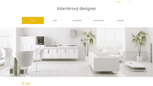 Interierový designer žlutá šablona číslo 562