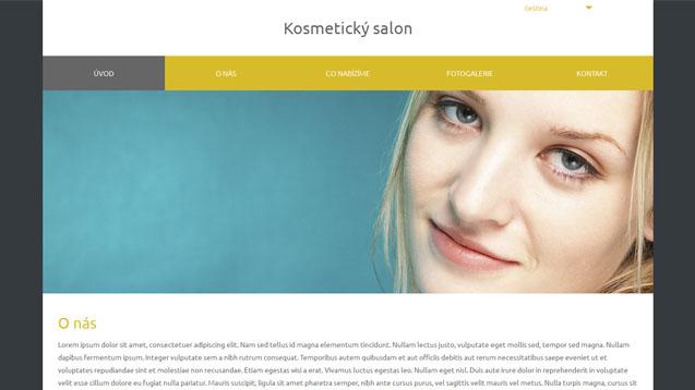 Kosmetický salon tmavě žlutá šablona číslo 571