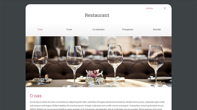 Restaurant růžová šablona číslo 602