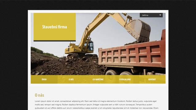 Stavební firma žlutá šablona číslo 412