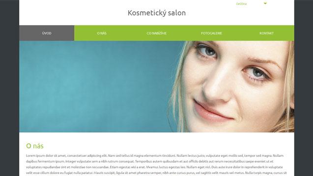 Kosmetický salon zelená šablona číslo 570