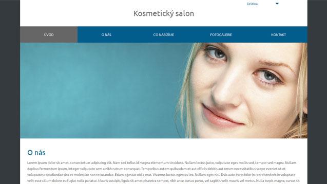 Kosmetický salon tmavě modrá šablona číslo 573