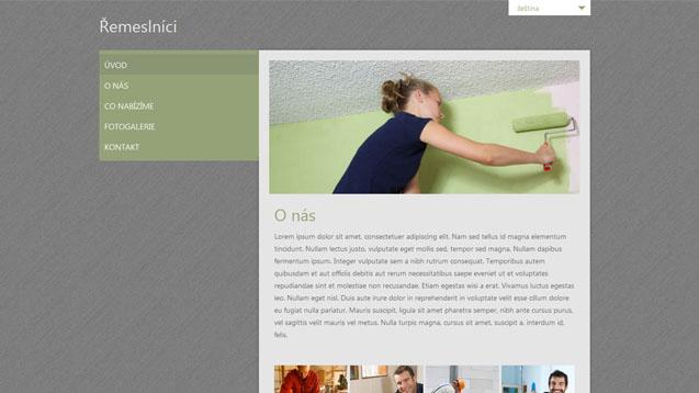 Webmium šablona řemeslníci