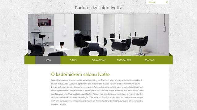 Kadeřnický salon Ivette zelená šablona číslo 225