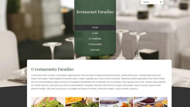 Restaurace tmavě zelená šablona číslo 300