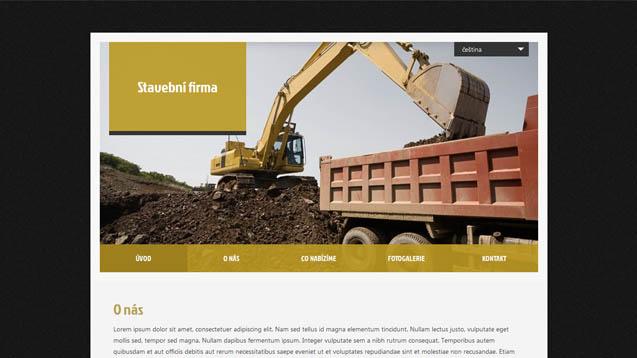 Stavební firma tmavě žlutá šablona číslo 407