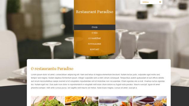 Restaurace oranžová šablona číslo 308