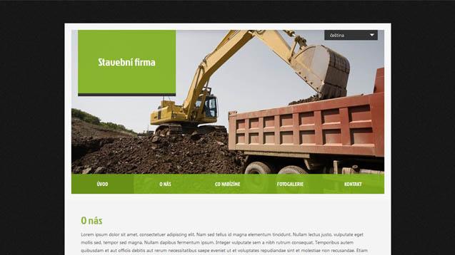 Stavební firma zelená šablona číslo 406