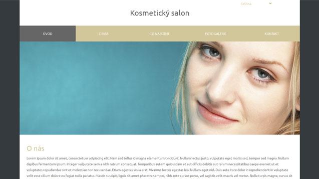 Kosmetický salon béžová šablona číslo 582