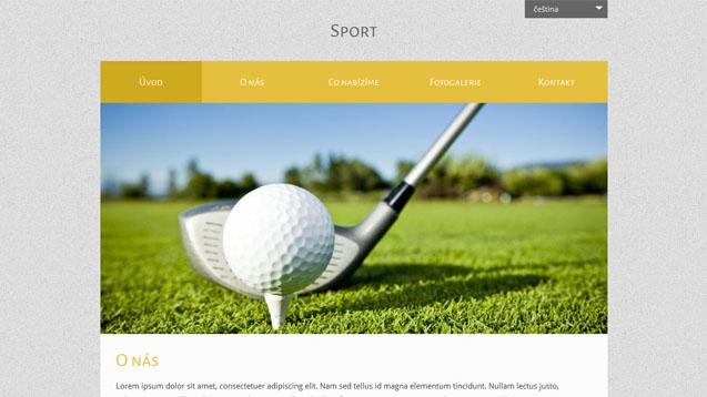 Sport žlutá šablona číslo 522