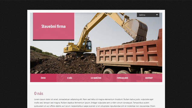 Stavební firma růžová šablona číslo 413