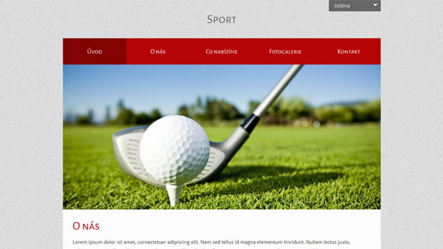Sport červená šablona číslo 525