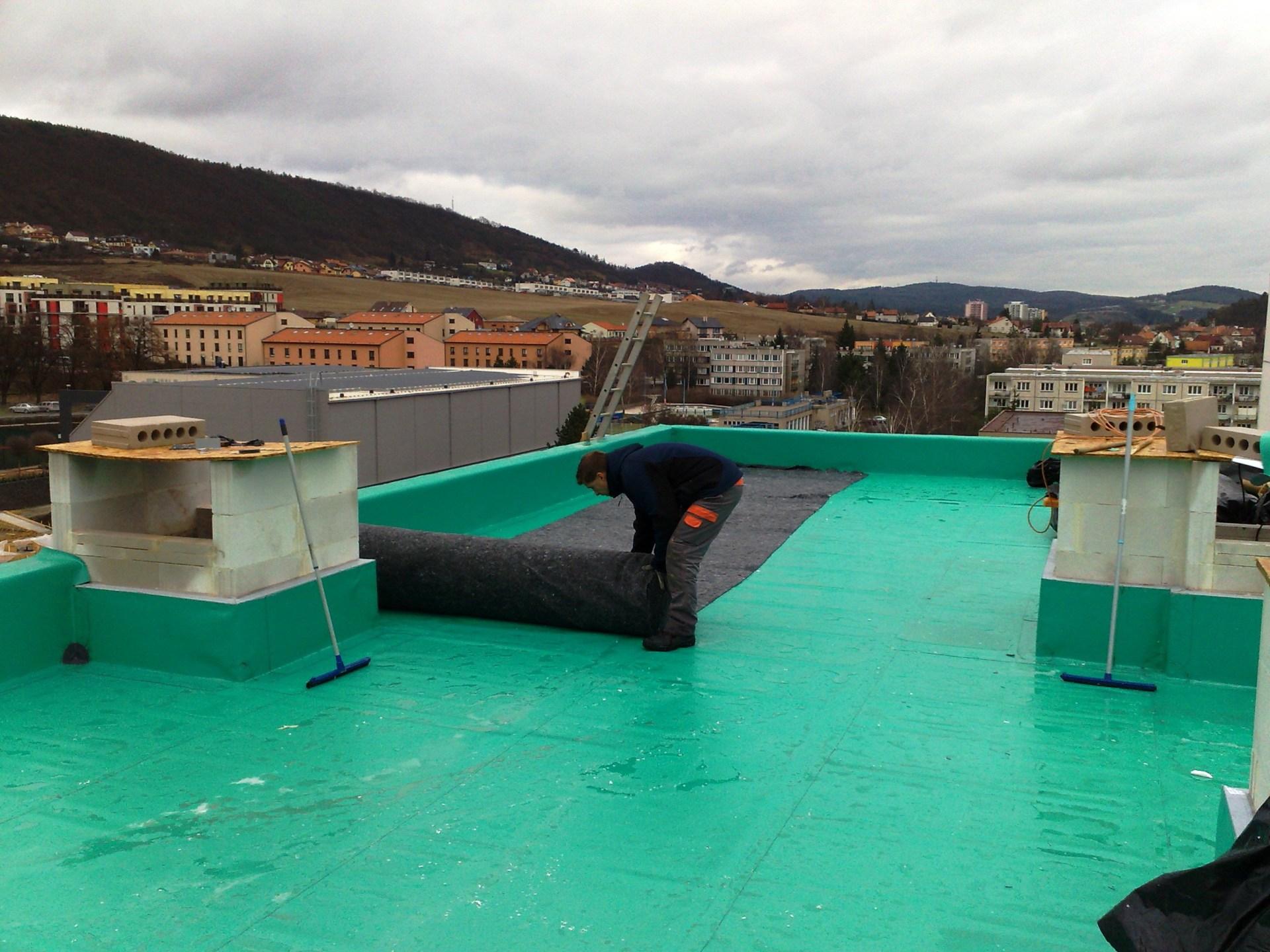 Plochá střecha, izolace