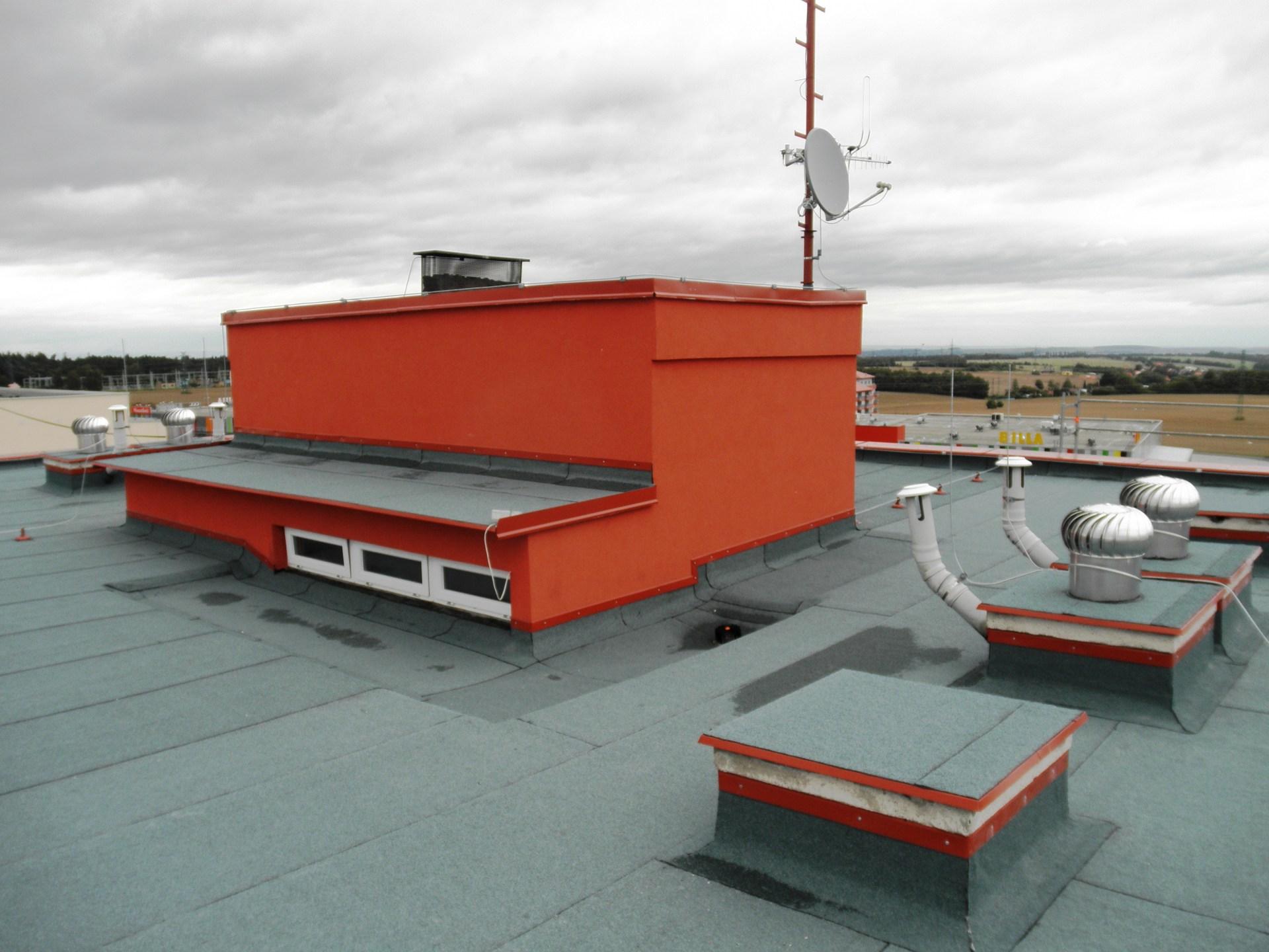 plochá střecha po rekonstrukci
