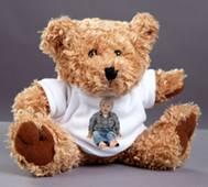 Velký plyšák - medvěd s trikem