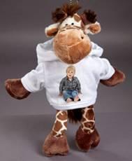 Velký plyšák - žirafa s trikem