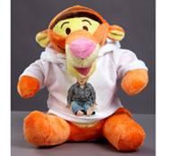 Velký plyšák - tygr oranž s trikem