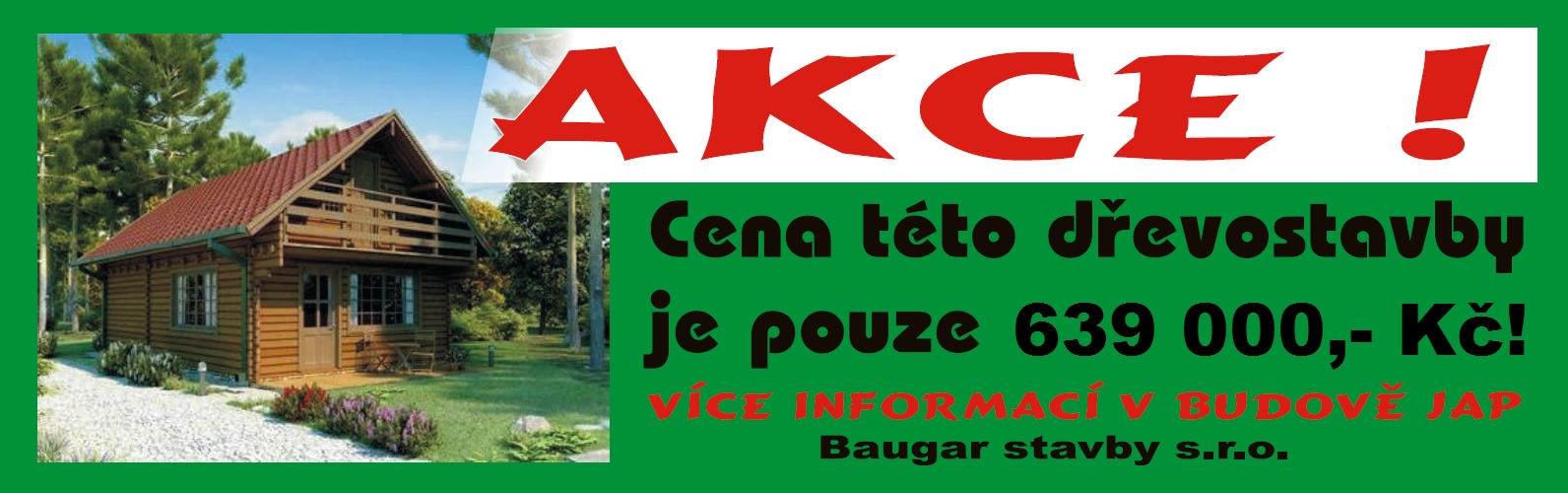 akční nabídka | dřevostavby