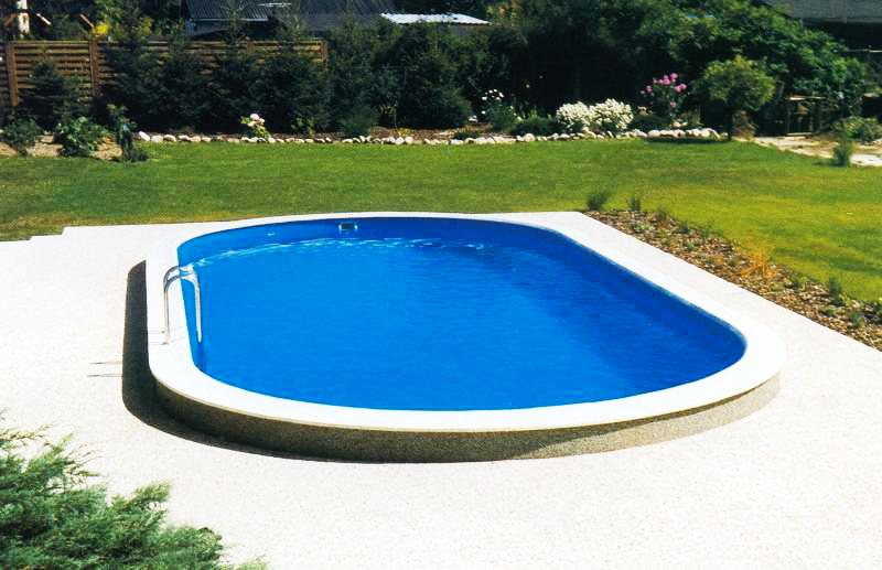 Bazén s ocelovou konstrukcí