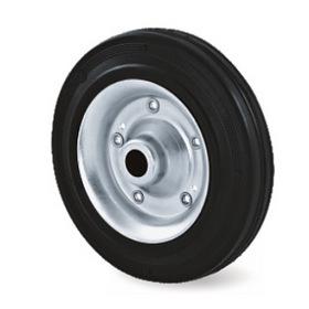 Transportní kola, ocelový zinkovaný disk s pryžovou obručí