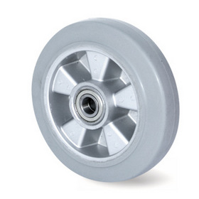Vysokozátěžová kola, hliníkový disk s bezestopou pryžovou obručí