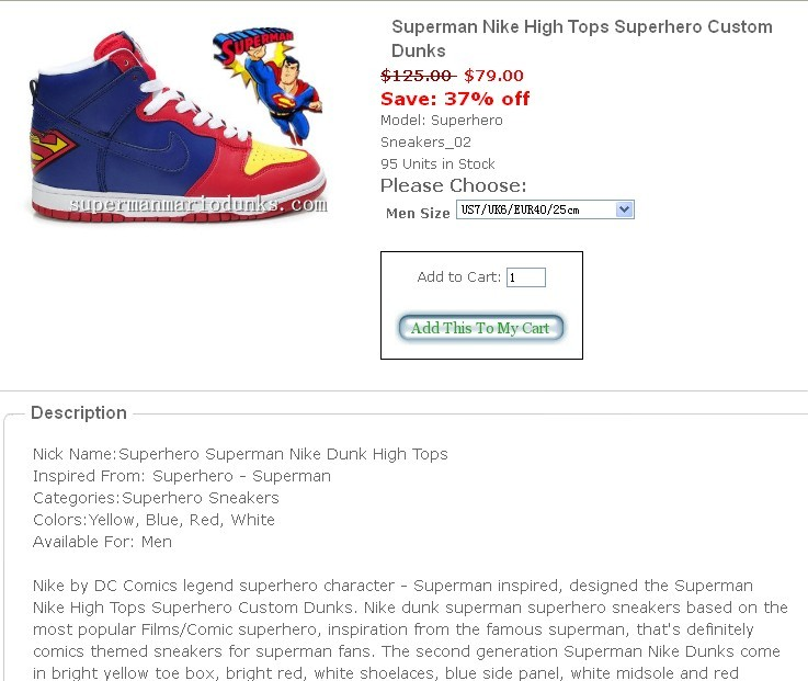Customize Themed Shoes,Mario Dunks,Superman Nikes
