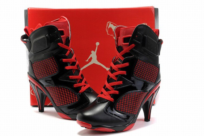 38853a845a65 Nike Air Jordan 6 Heels Black Red