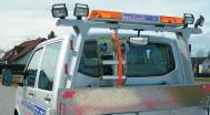 světelná rampa s pomocným zrcatkem