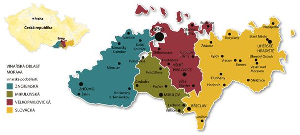 VOC Znojmo, mapa