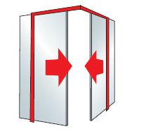 úhlové dveře
