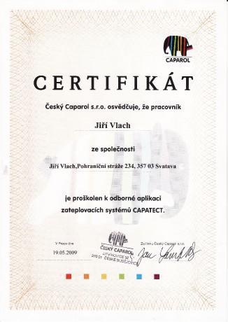 Certifikát na zateplení fasád