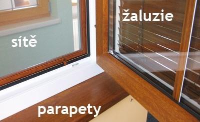 doplňky oken a dveří - sítě, parapety, žaluzie
