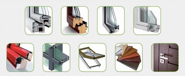 různé druhy plastových oken
